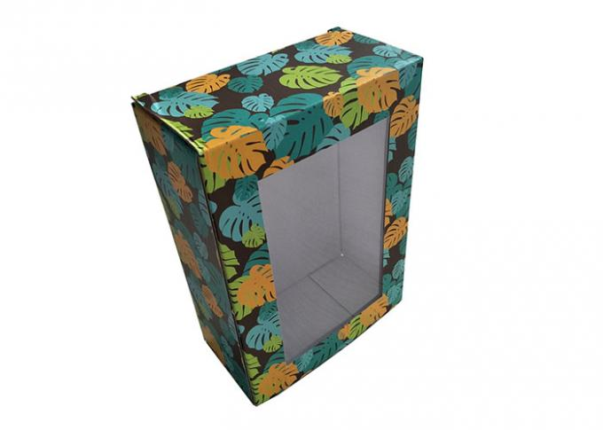 Transparent Window Paper Gift Box In Printing Decorative Pattern