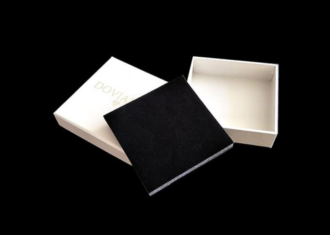 White Cardboard Gift Boxes Decorative , Present Boxes With Lids Tray Insert