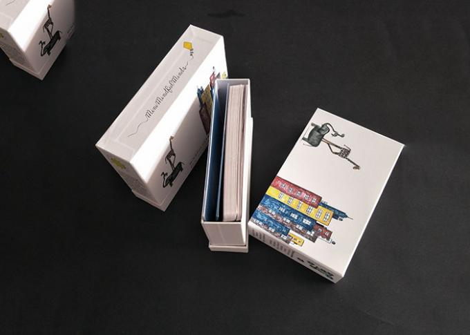 Colorful Pattern Printing Rigid Box With Lid Booklet  Books Packaging Sliding Drawer