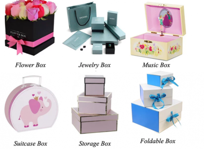 Square Shaped Gift Wrapping Boxes Lovely Glossy Lamination For The Business Card