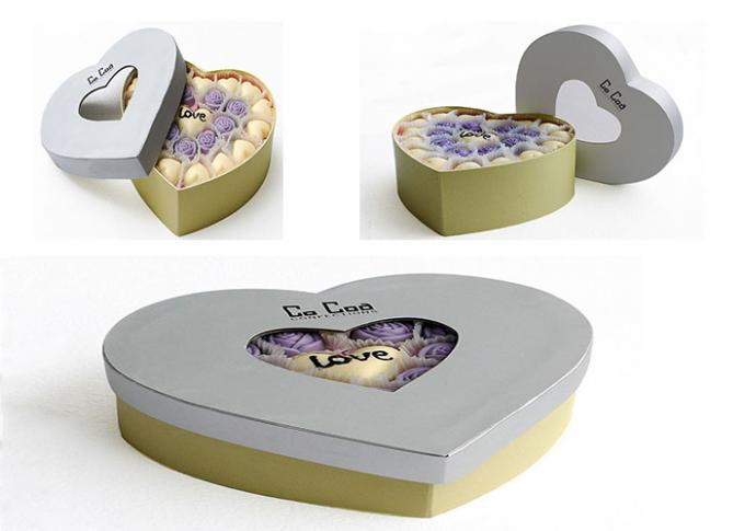 Heart Shaped Magnetic Closure Gift Box Custom Color For Valentine ' S Day