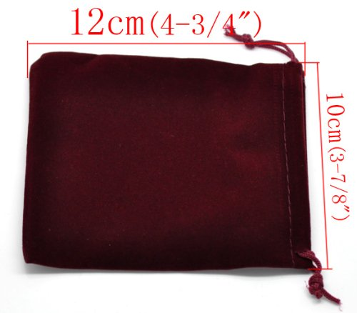 Ginzeal Custom Cheap Personalized Velvet Drawstring Pouch Bag