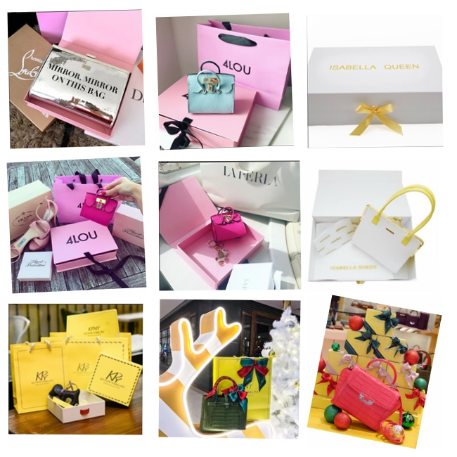 Luxury High - End Cardboard Gift Boxes For Women Leather Bag Packaging