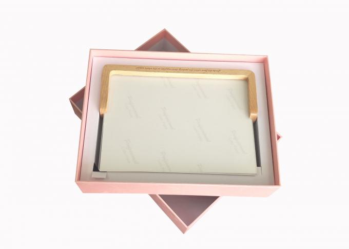 Album Lat Pack Gift Boxes Pink Paper Cardboard Cover Photo Frame Packaging