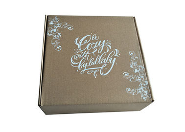 Cover Lamination Brown Paper Foldable Boxes , Collapsible Brown Square Gift Box