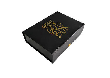 China Gold Stamping Logo Printed Fold Up Gift Boxes , Book Shaped Paper Gift Box factory