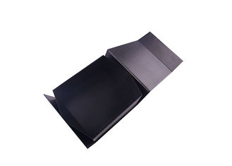 China UV Logo Printed Paperboard Folding Gift Boxes , Black Gift Boxes With Lids factory