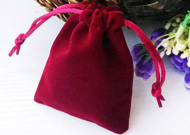 Jewelry Packing Velvet Drawstring Bags For Gift Giving Hot Stamping String