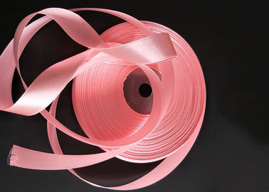 China Thin Pink Color Grosgrain Ribbon Bulk Smooth Surface Recyclable Material factory
