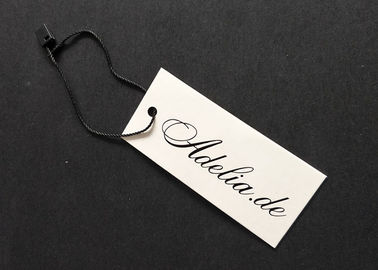 White Cardboard Custom Price Tags Environmental For Apparel Decorating Retailing