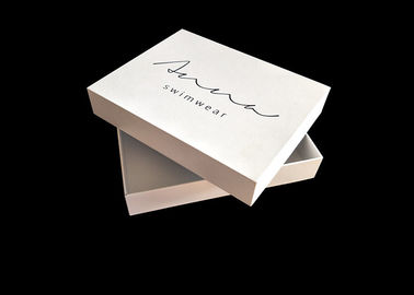 China Swimwear Paper White Box Matt Lamination Customized Size With Lid factory