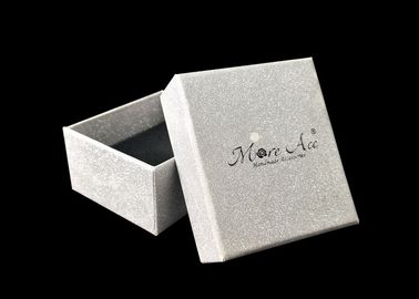 China Small Lid And Base Boxes Silver Glitter Jewelry Gift Packaging For Earring factory