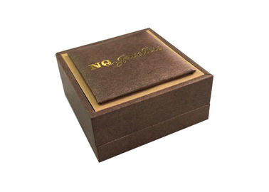 Gold Stamping Logo Decorative Gift Boxes Necklace Cases Foam Velvet Raw Material