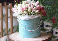 Paperboard Round Flower Box Rose Flower Bouquet Hot Stamping Fancy Eco - Friendly supplier
