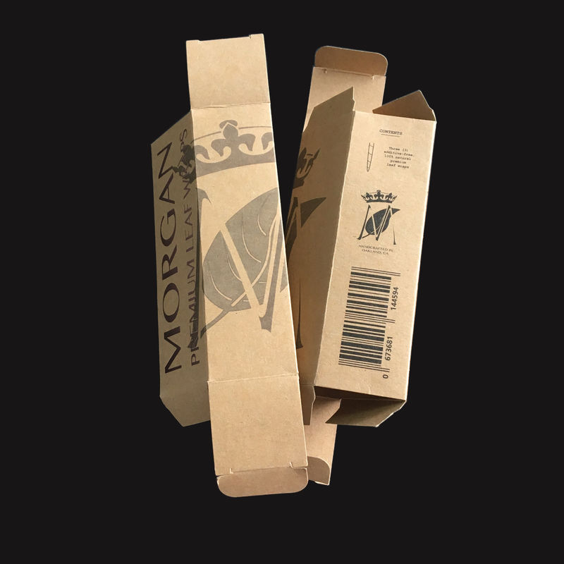 Small Bulk Brown Gift Card Box Pen Packing Uv Embossed Debossed Stamped