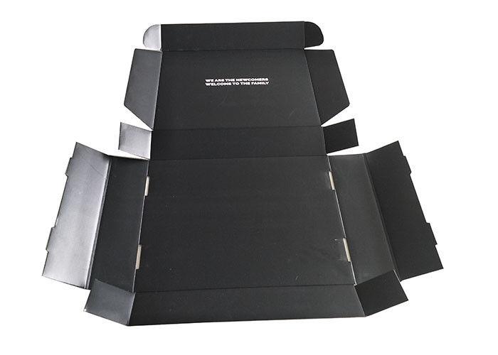 corrugated glossy lamination paper gift box  black