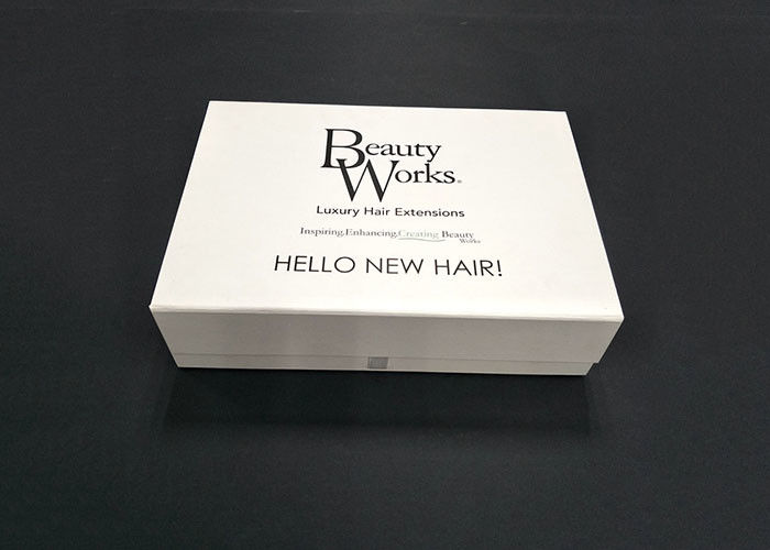 Moisture Proof White Clear Folding Gift Boxes For Hair Extensions
