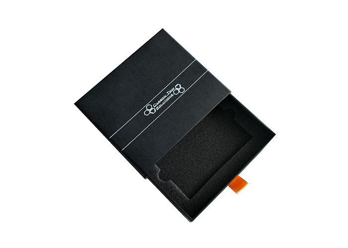 color black paper matchbox slide box  slide out gift box
