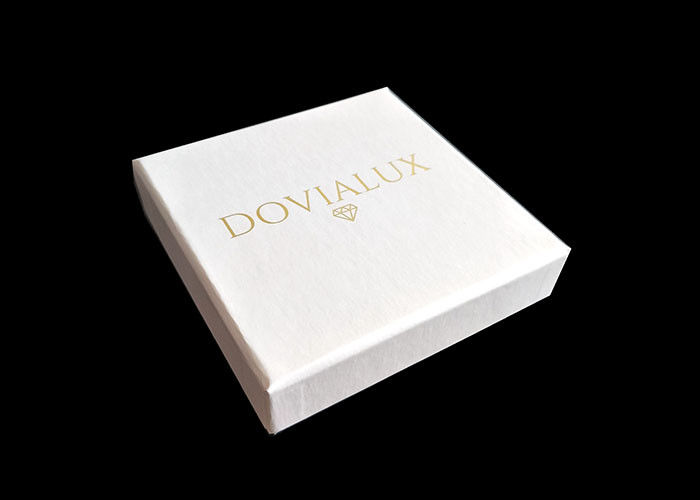 White Cardboard Gift Boxes Decorative , Present Boxes With Lids Tray Insert supplier