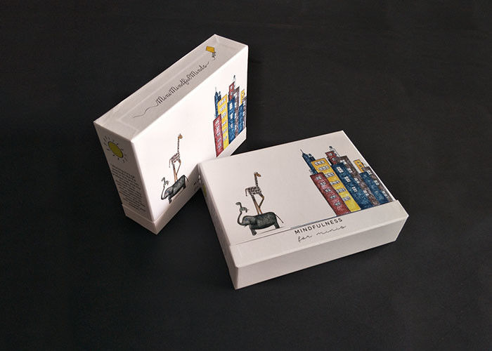 Colorful Pattern Printing Rigid Box With Lid Booklet  Books Packaging Sliding Drawer supplier