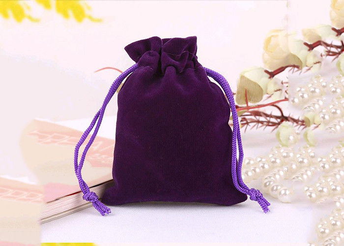 Fashional Velvet Drawstring Purse Black Material Recyclable First - rate supplier