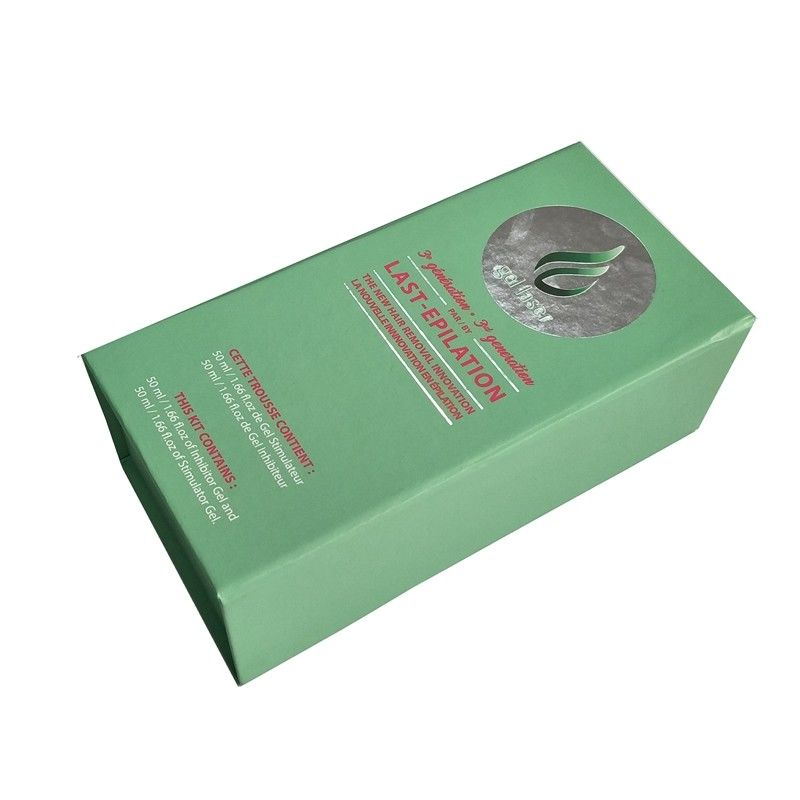 Light Green Printed Shipping Boxes Lined Foam Perfume Bottle Packaging supplier