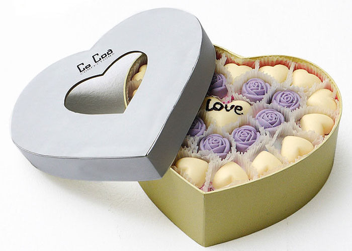 Heart Shaped Magnetic Closure Gift Box Custom Color For Valentine ' S Day supplier