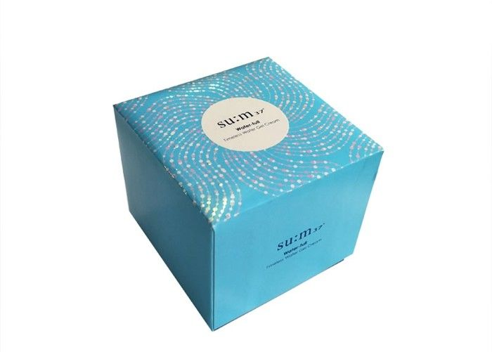 Cosmetic Cardboard Gift Boxes , Cream Packaging Rigid Gift Boxes With Lids supplier