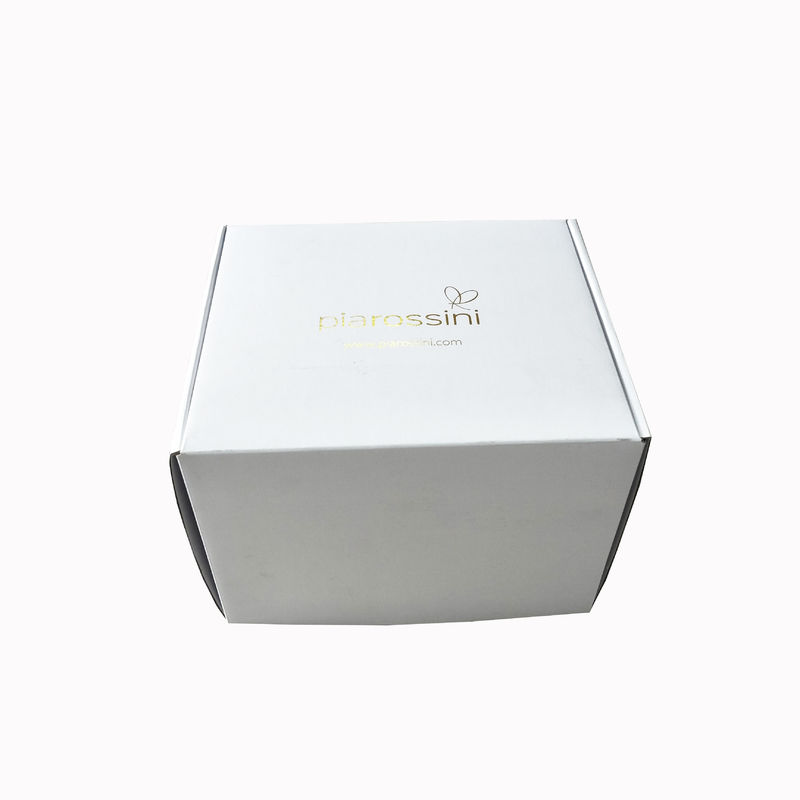 Hot Foil Gold Logo Corrugated Shipping Boxes For Dress Packaging Zxc-007 supplier