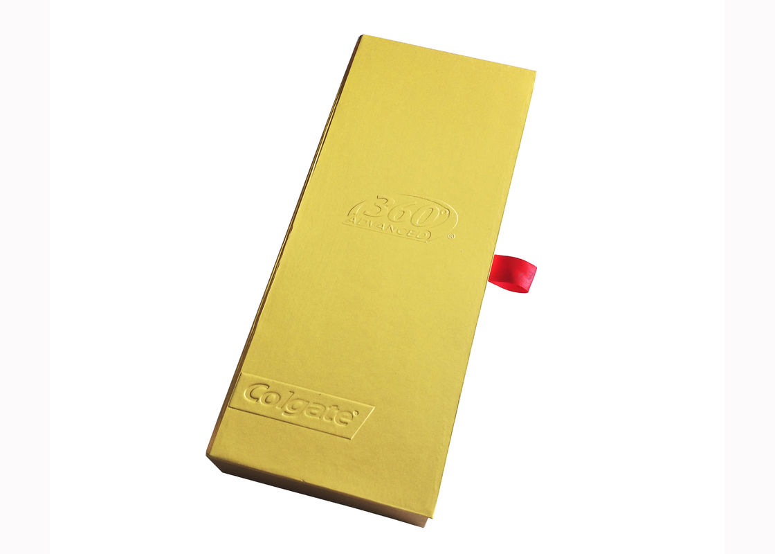 Matte Lamination Paper Gift Box Matte Gold Thick Cardboard Toothbrush Packaging supplier