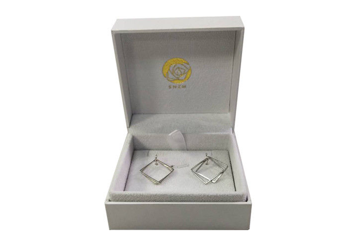 Earing Jewelry Paper Gift Box Cardboard Packaging With Customized Logo / Size supplier