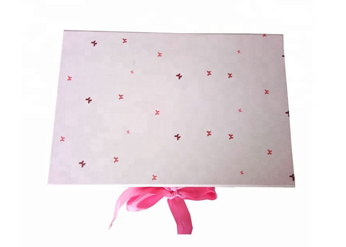 Pink Color Gift Wrapping Boxes , Custom Gift Boxes Packaging For Girls Dress supplier
