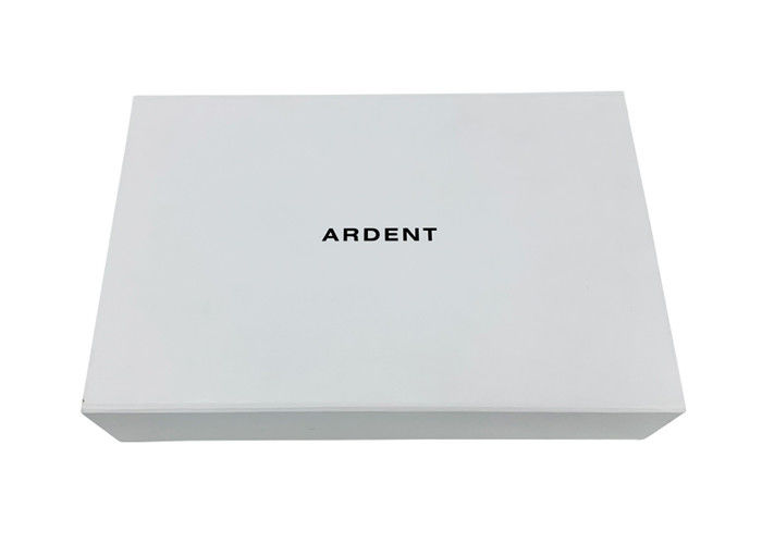 Flat Paper Folding Gift Box White Color For Apparel Bikini Beachwear Packing supplier