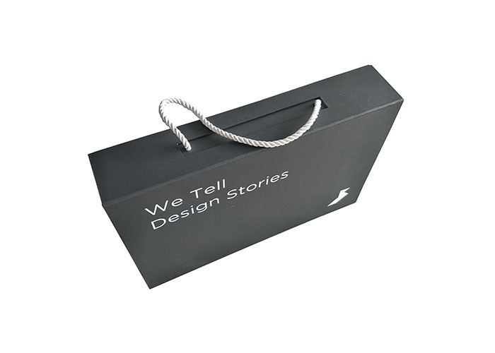 black paperboard folding packaging boxes logo custom with
