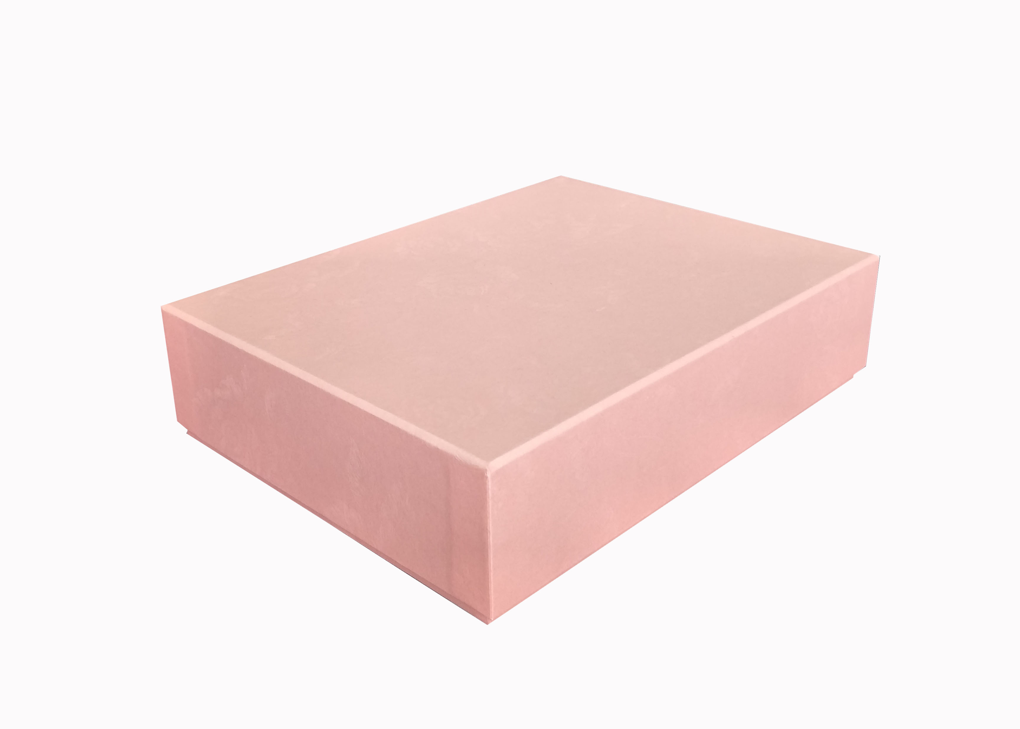Elegant Pink Lid And Base Boxes Customized Size Cardboard Gift