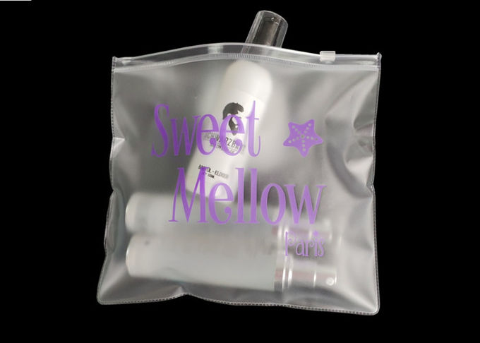 8.5 * 8 .5 Inches Clear Custom Shopping Bags For Make Up Hair Products