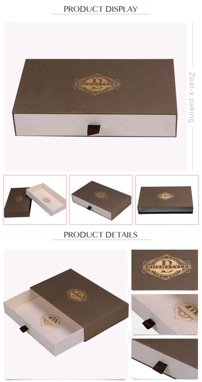 Eco - Friendly Sliding Paper Box Drawer Type Apparel ISO9001 Certificated